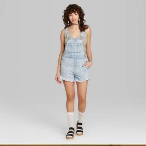 Wild Fable light denim overalls shorts